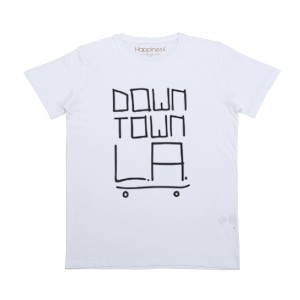 Happiness Short Sleeve Downtown LA T-Shirt in White
