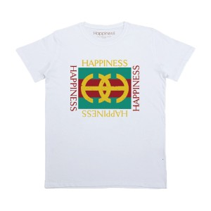 Happiness Short Sleeve Multi Happiness T-Shirt in White