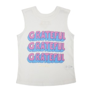 Spiritual Gangster Girls Grateful Muscle Tank in Off White