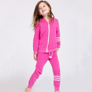 Sol Angeles Waves Hacci Jogger Pant in Pink on girl