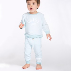 Sol Angeles Waves Hacci Jogger Pant in Pool on boy