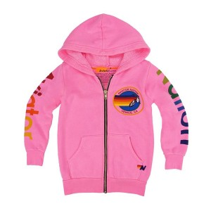 Aviator Nation Zip Hoodie in Aviator Nation Pink