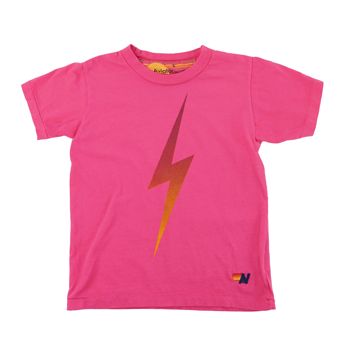 Aviator Nation Bolt Fade T-Shirt in Rose