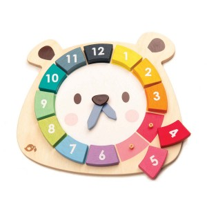 Tender Leaf Bear Colors Clock
