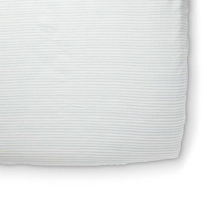 Petit Pehr Stripes Away Crib Sheet Sea