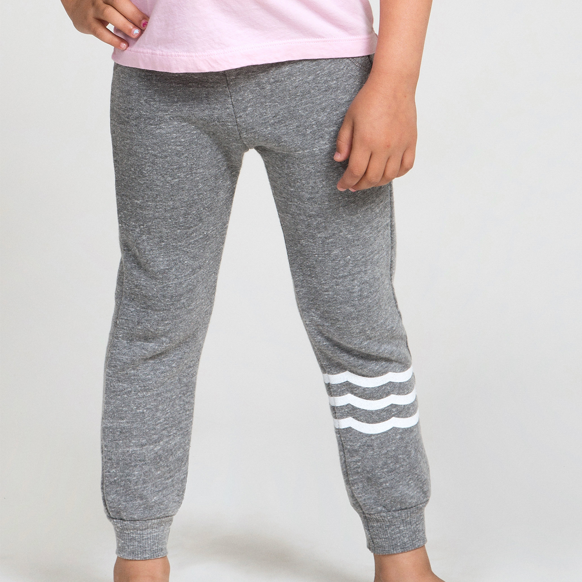 Sol Angeles Waves French Terry Jogger in Heather Grey