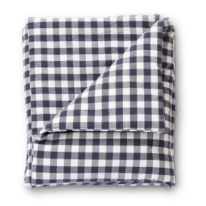 Petit Pehr Check Mate Toddler Blanket Dark Navy