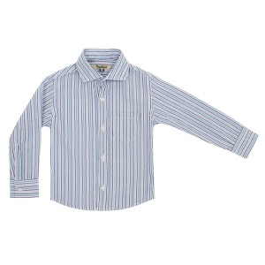 Nupkeet Button Down Shirt in Seersucker Blue Stripe