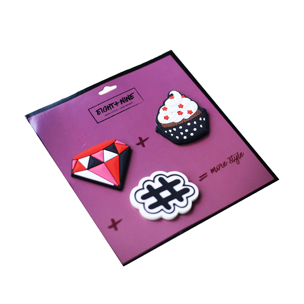 Light + Nine Backpack Patch Pin Set in Cupcake