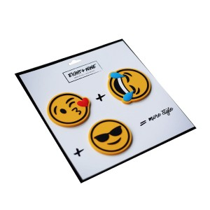 Light + Nine Backpack Patch Pin Set in Emojis
