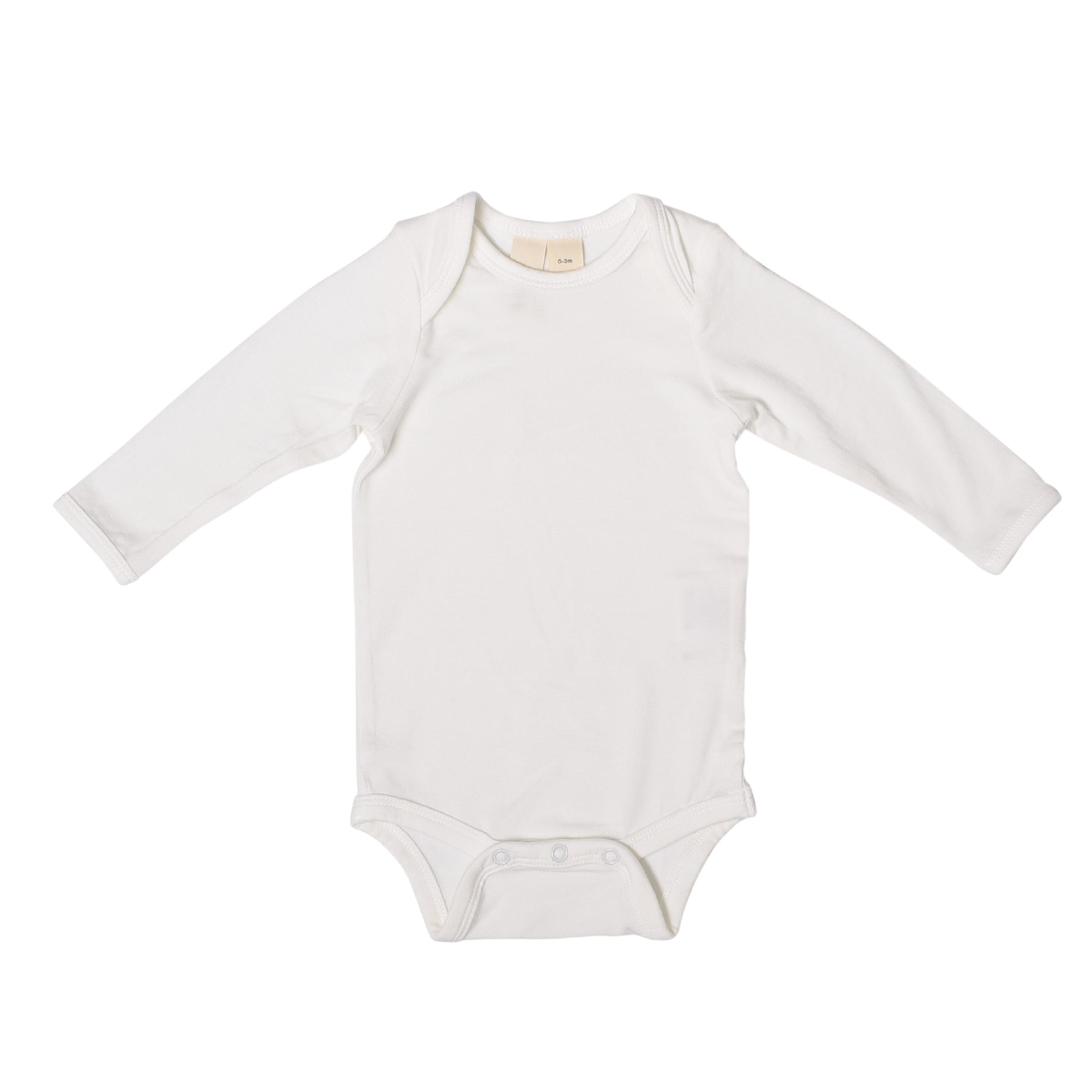 Kyte Baby Rayon from Bamboo Long Sleeve Onesie in Cloud