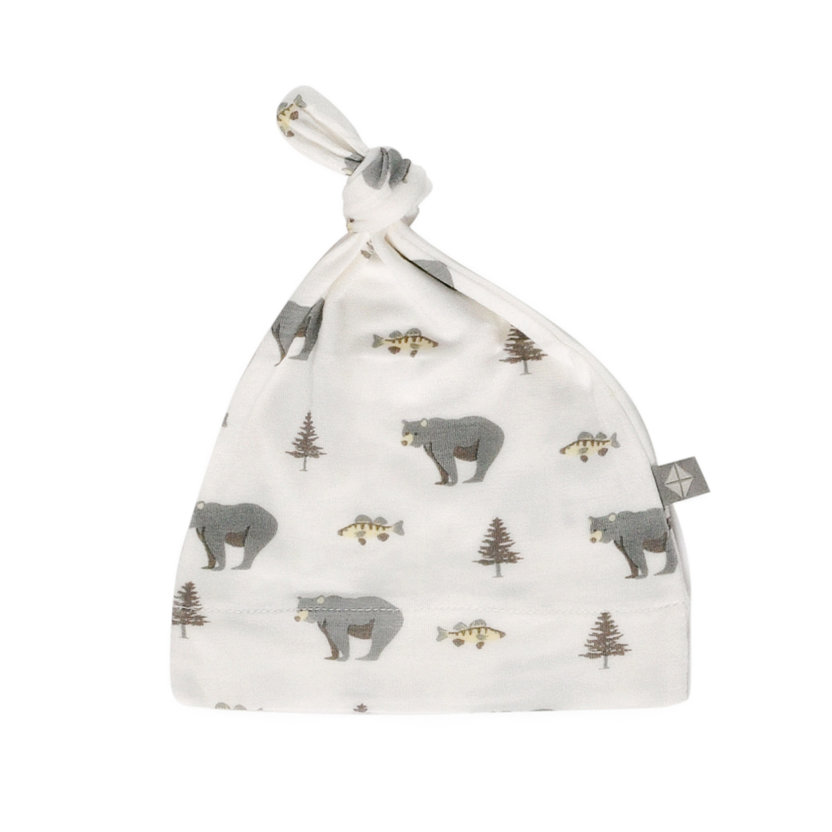 Kyte Baby Printed Knotted Hat in Creek Print