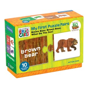 Mudpuppy Eric Carle Brown Bear My Frist Puzzle Pairs