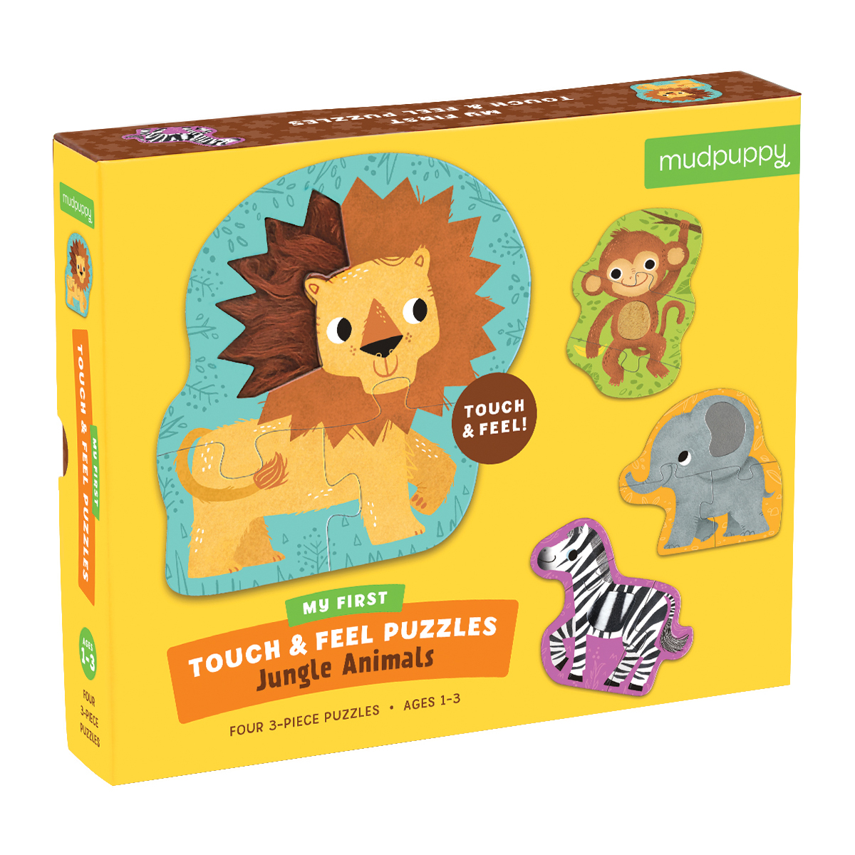 Mudpuppy Jungle Animals My First Touch & Feel Puzzles
