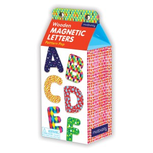 Mudpuppy Pattern Pop Letters Wooden Magnetic Sets