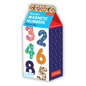 Mudpuppy Pattern Pop Numbers Wooden Magnetic Sets