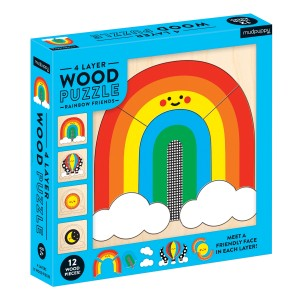 Mudpuppy Rainbow Friends 4 Layer Wood Puzzles