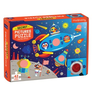 Mudpuppy Space Castle Secret Pictures Puzzle