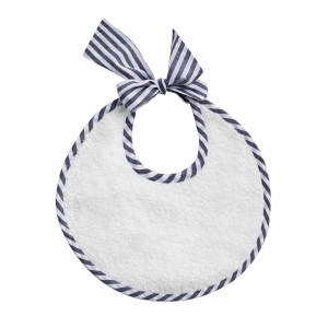 Louelle Round Newborn Bib in Harbor Island Blue