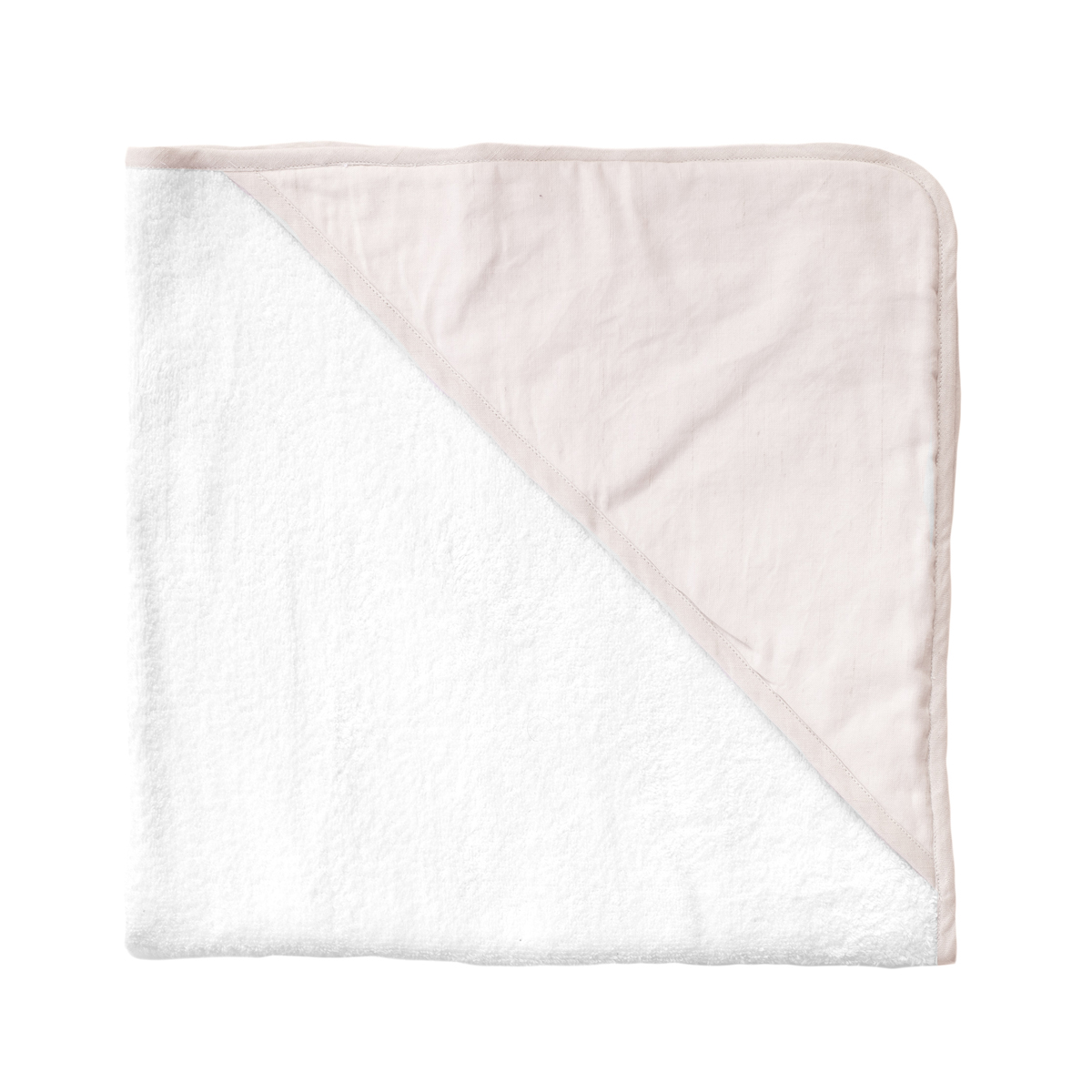 Louelle Hooded Towel in Blossom Pink