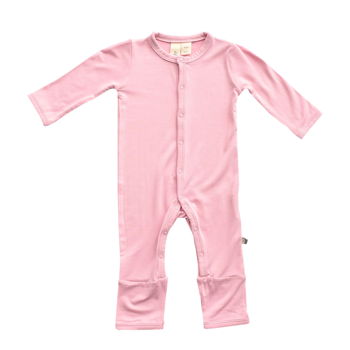 Kyte Baby Bamboo Solid Footless Romper in Dusk Pink