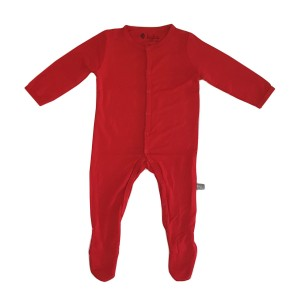 Kyte Baby Bamboo Solid Footie in Crimson Red