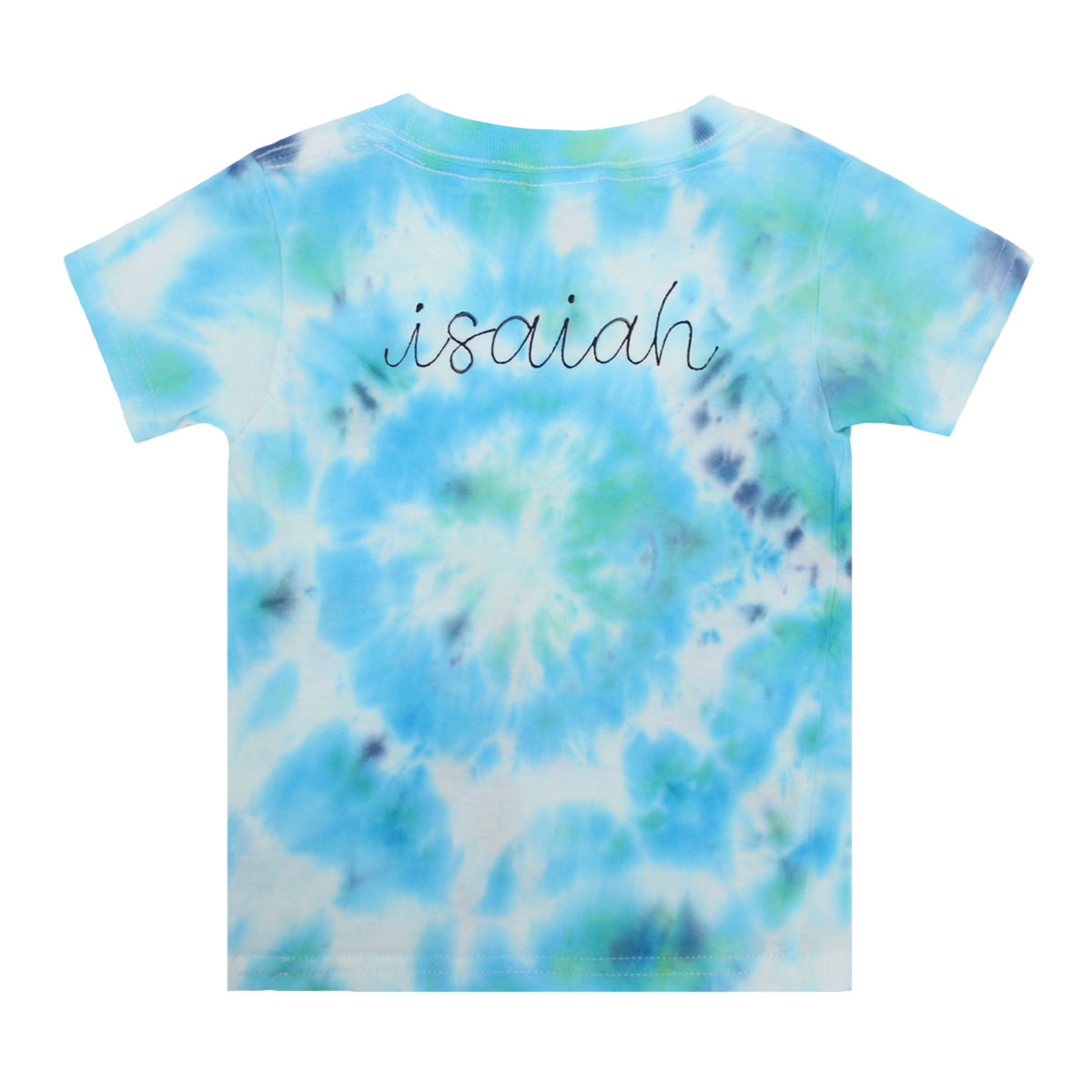 THEME Personalized T-Shirt in Blue & Green Tie Dye