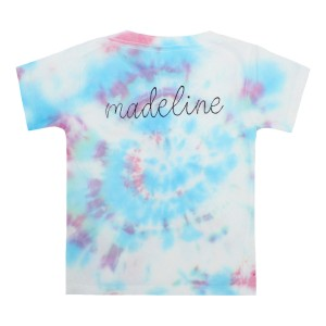 THEME Personalized T-Shirt in Blue & Pink Tie Dye