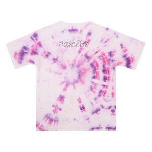 THEME Personalized T-Shirt in Purple, Pink & White Tie Dye