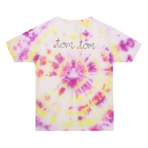 THEME Personalized T-Shirt in Purple, Pink & Yellow Tie Dye