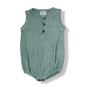 Shirley Bredal Hemp/Cotton Sleeveless Romper in Sage