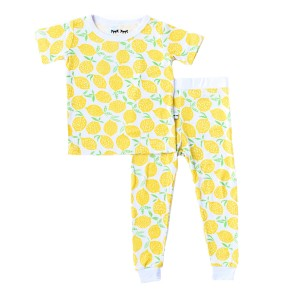 Little Sleepies Short Sleeve PJ Set in Lemon
