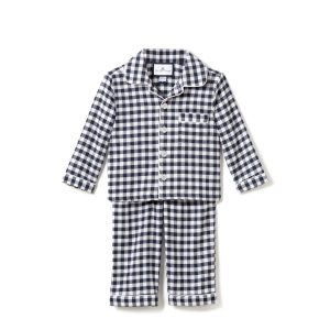 Petite Plume Kid's Navy Gingham Pajamas