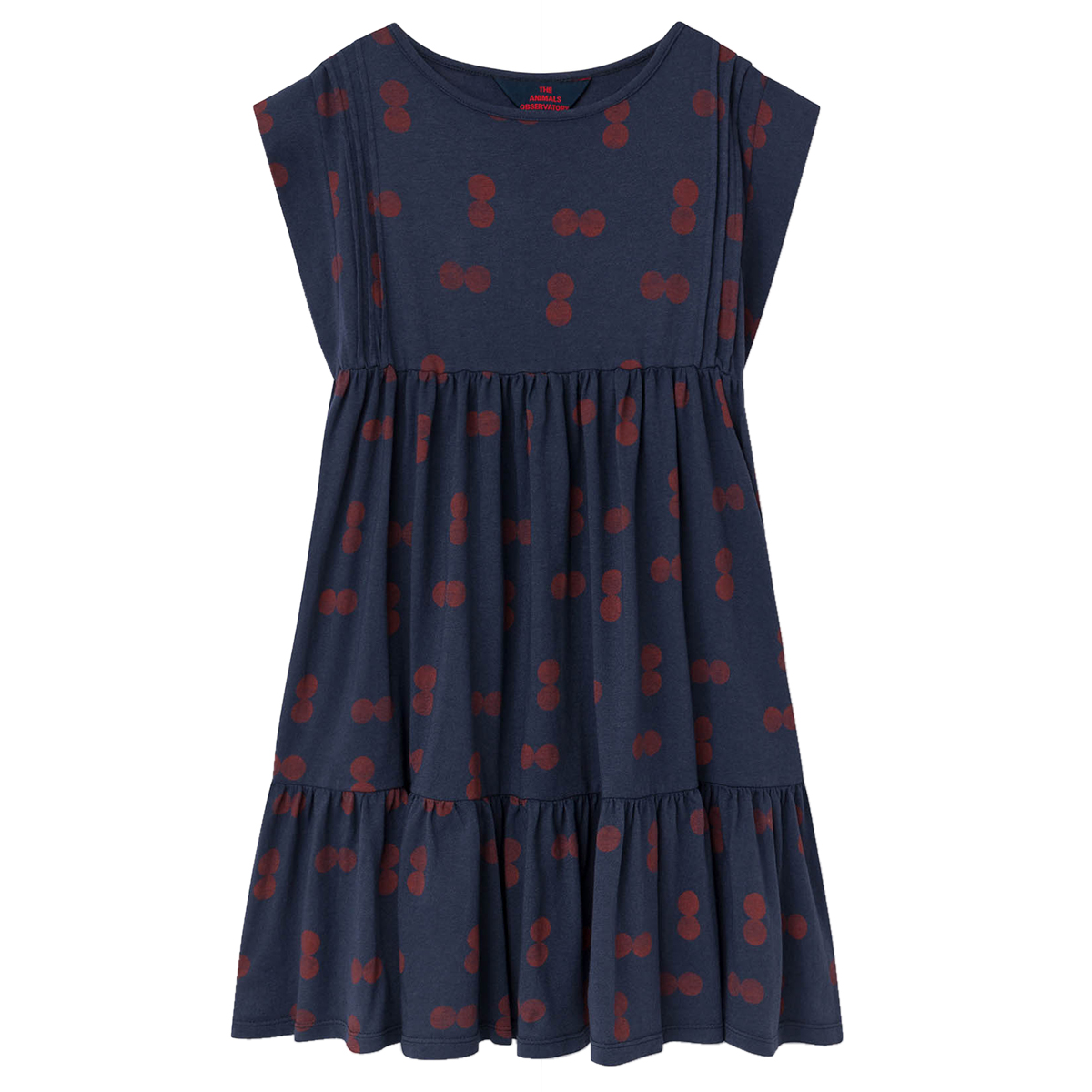 The Animals Observatory Cherries Robin Dress in Navy
