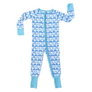 Little Sleepies PJ Sleeper in Blue Rainbow
