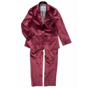 Appaman Suit in Mod Burgundy Velvet