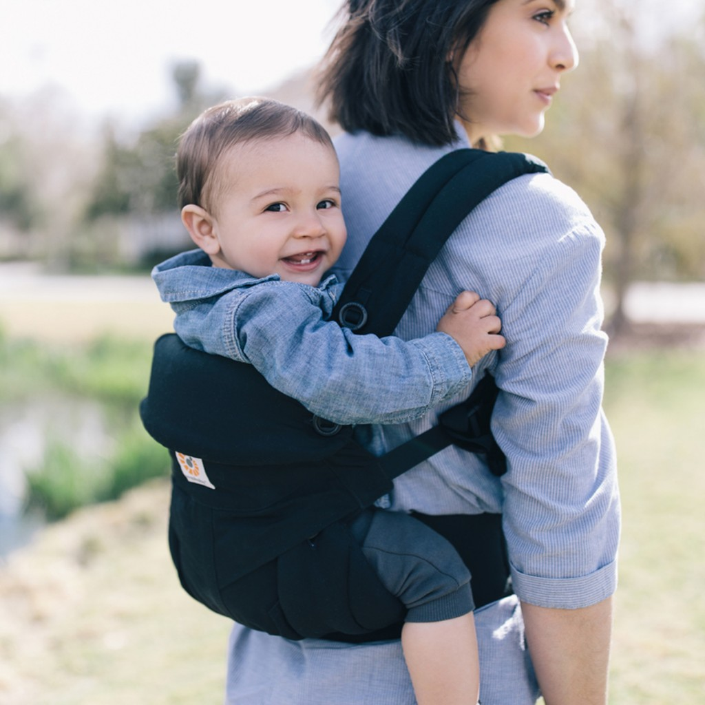 Ergobaby 360 All Positions Carrier in Pure Black with baby