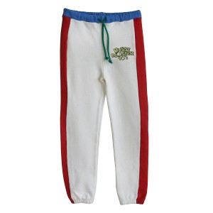 Bandy Button Gabby White Jogging Pant