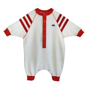 Bandy Button Melo White and Red Jumpsuit