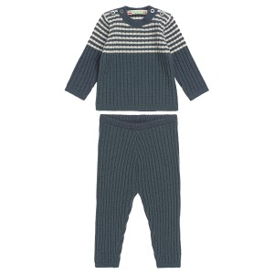 Bonpoint Striped Blue Gris Ensemble
