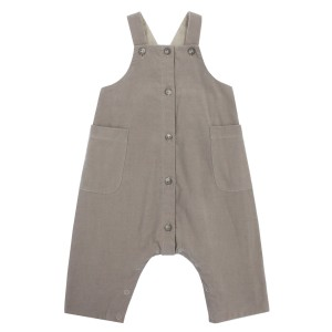 Bonpoint Velour Taupe Overalls