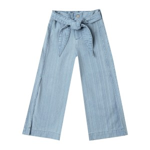 Rylee + Cru Wide Leg Washed Denim Pant