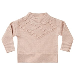 Rylee + Cru bobble Sweater in Rose