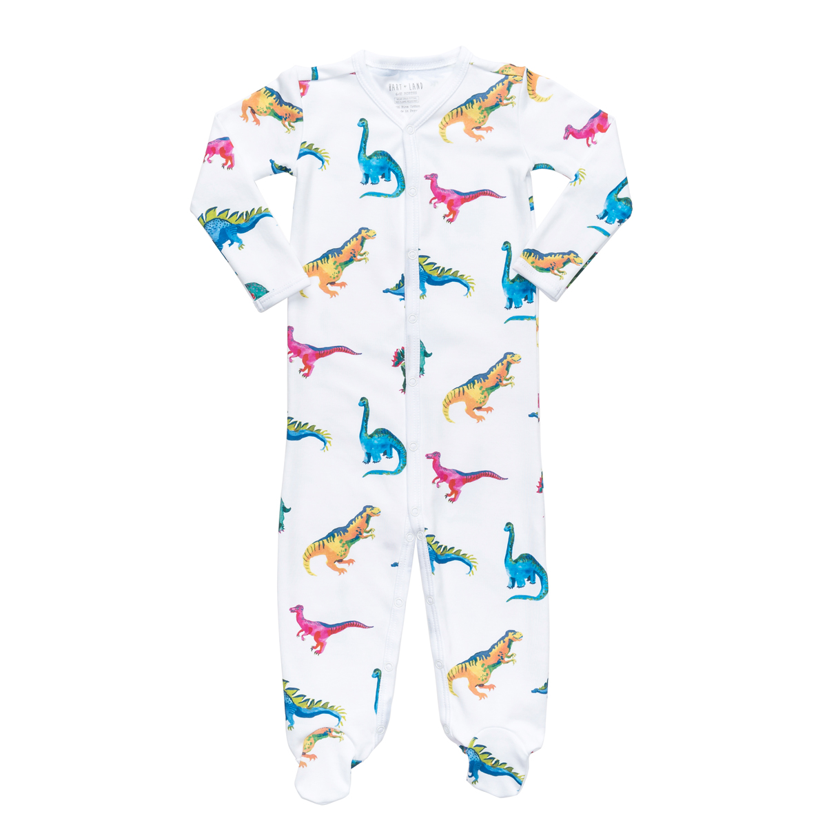Hart + Land Footed Bodysuit PJ in Dinosaurs Print
