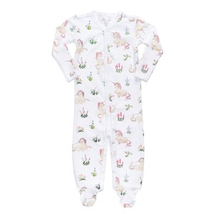 Hart + Land Footed Bodysuit PJ in Unicorn Tapestry Print
