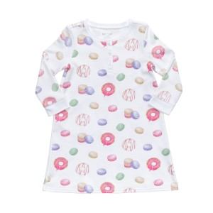 Hart + Land Night Dress in Donut & Macaron Print