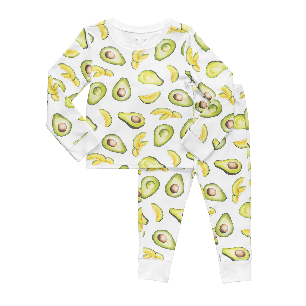 Hart + Land PJ Set in Avocado Print
