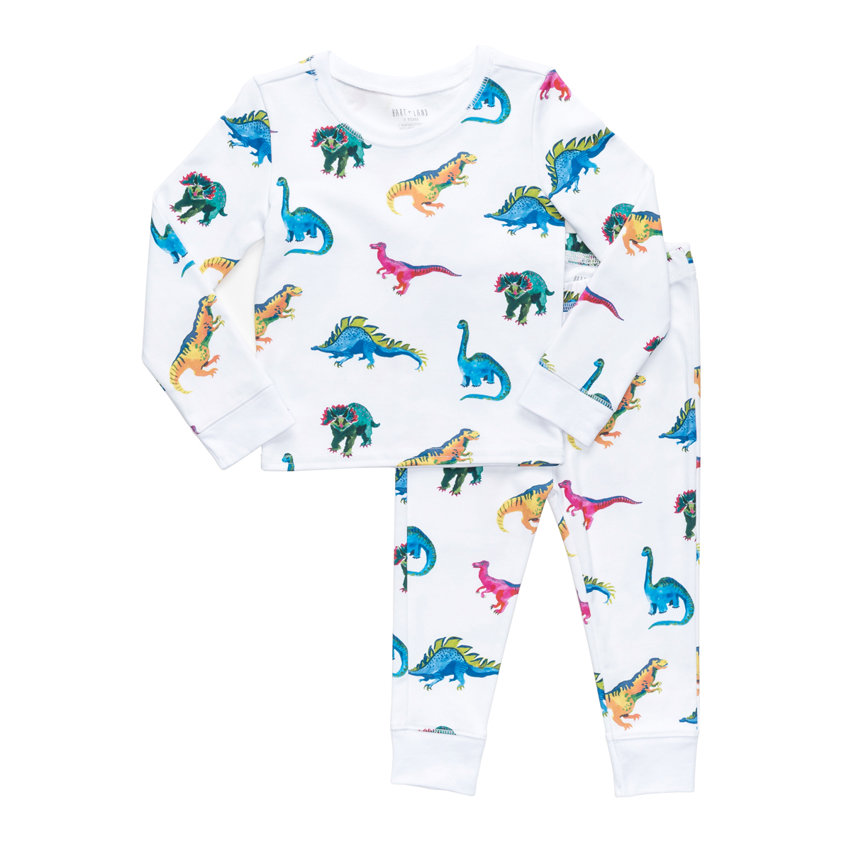 Hart + Land PJ Set in Dinosaur Print