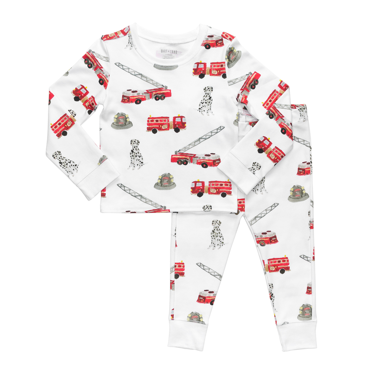 Hart + Land PJ Set in Fire Trucks Print