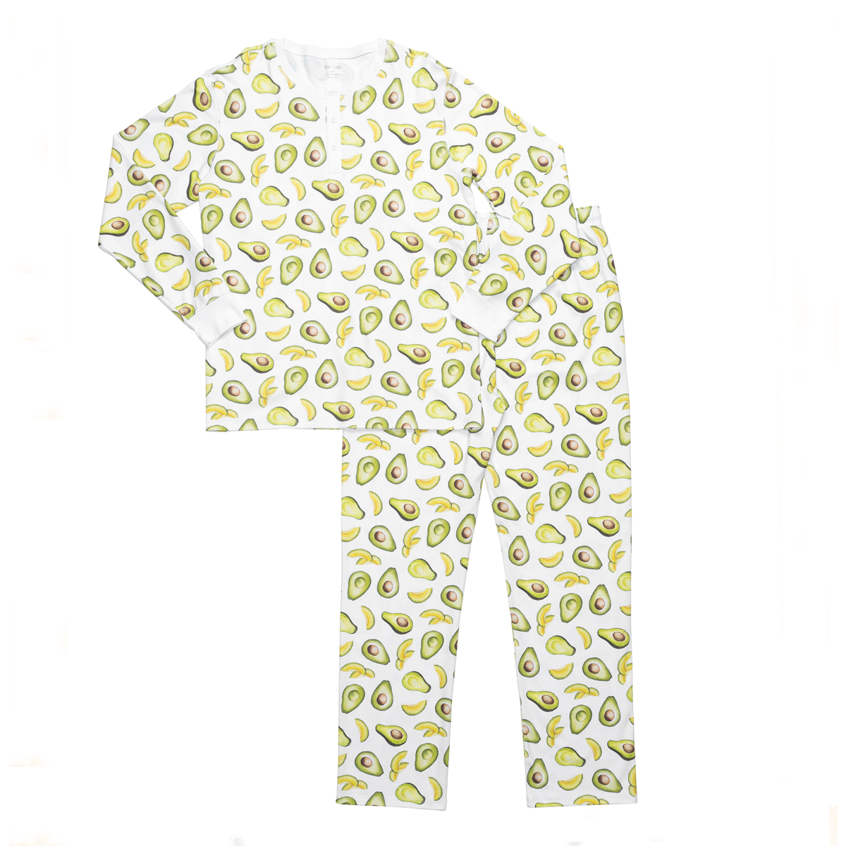 Hart + Land Men's PJ Set in Avocado Print